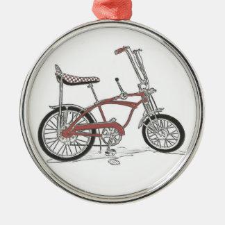 60年代のクラシックなSchwinnのアカエイ筋肉バイクの自転車 メタルオーナメント