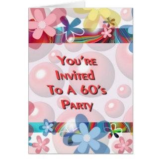 60年代のパーティーへの招待されました カード