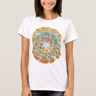 60年代のヴィンテージの花の花模様 Tシャツ
