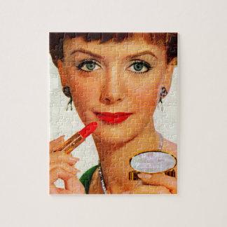 60年代の口紅の女性 ジグソーパズル
