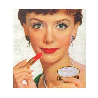 60年代の口紅の女性 ノートパッド