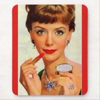 60年代の口紅の女性 マウスパッド