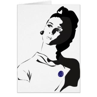 60年代の女性 カード