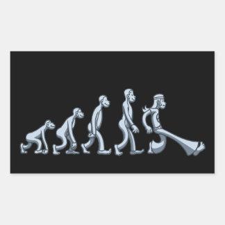 60年代の進化 長方形シール