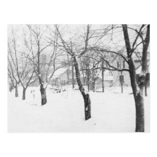 60年代の降雪 ポストカード