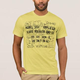 60年代のSEARSのシルバー・トーンの双生児12の設計図 Tシャツ