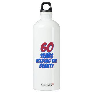 60歳の誕生日のデザイン ウォーターボトル