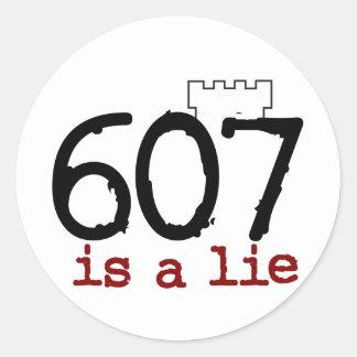607はうそです! ラウンドシール