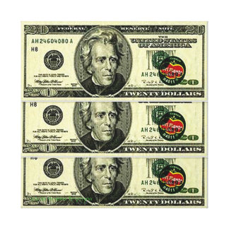 60 DOLLAR DEL MONTE COMPOSITION キャンバスプリント