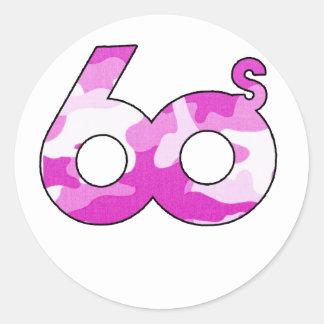 60s蟹座のステッカー ラウンドシール
