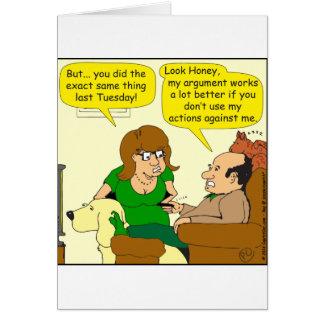 611よりよく私の議論の漫画のために グリーティングカード