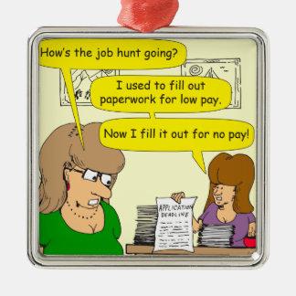 615の就職申し込みの漫画 メタルオーナメント
