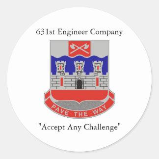 631st|エンジニア|会社|ヘルメット|ステッカー 丸形シールステッカー