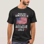 64Th Birthday Gift Making America Great Since Nove Tシャツ