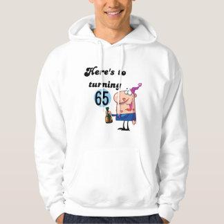 65個の誕生日のTシャツおよびギフトへの応援 パーカ