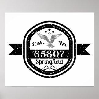 65807スプリングフィールドに確立される ポスター