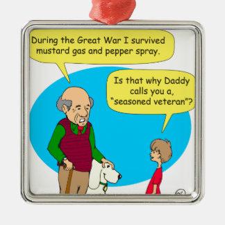 660乾燥した退役軍人の漫画 メタルオーナメント