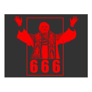 666法皇 ポストカード