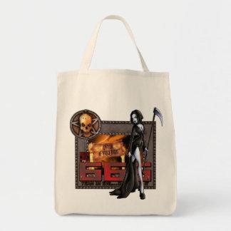 666 -オーガニックな食料雑貨のトート トートバッグ