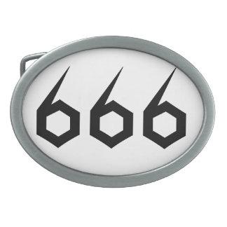 666 卵形バックル