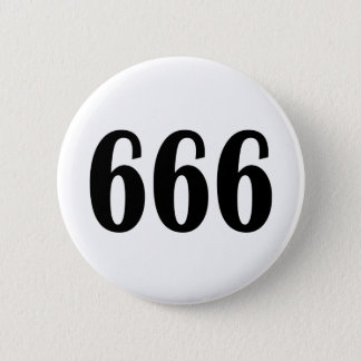 666 5.7CM 丸型バッジ