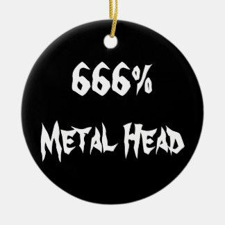 666%Metal頭部 セラミックオーナメント