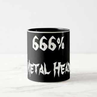 666%Metal頭部 ツートーンマグカップ