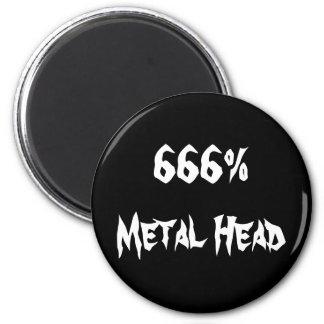 666%Metal頭部 マグネット