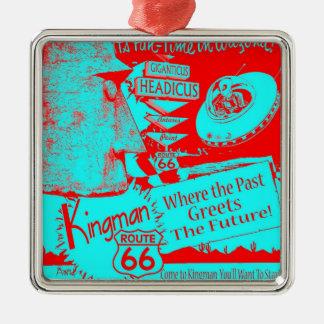 66 50年代UFO外国のGiganticus Headicusの赤を導いて下さい メタルオーナメント