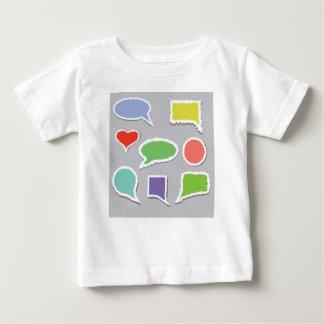 66Speech Bubbles_rasterized ベビーTシャツ
