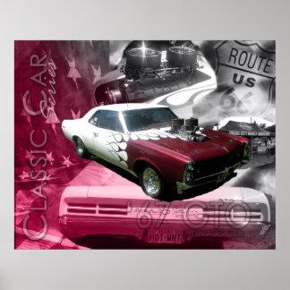 67のGTOクラシック車シリーズ ポスター