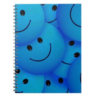 67198のスマイルのスマイリーフェイスの漫画のスマイルのチーム青 ノートブック