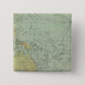 68の通信回線、インド洋 5.1CM 正方形バッジ