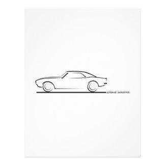 68 Camaroの堅い上BLK レターヘッド