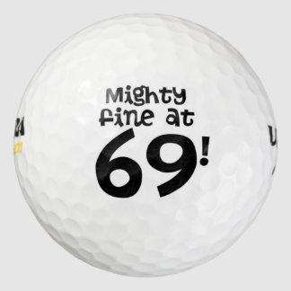 69の強大な罰金! ゴルフボール