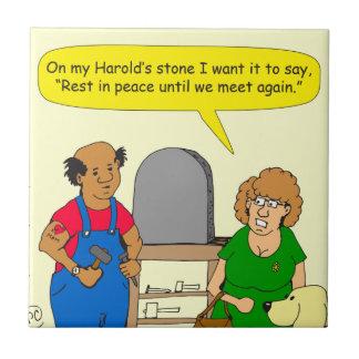 693 Haroldsの石の裂け目の漫画 タイル