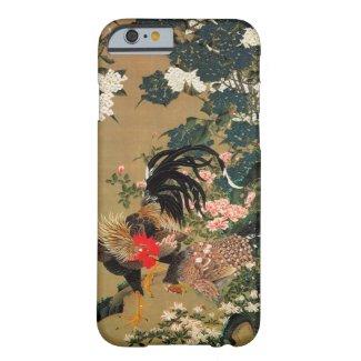 6. 紫陽花双鶏図、若冲のアジサイおよびオンドリ、Jakuchū iPhone 6 ベアリーゼアケース