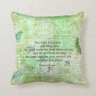 6:24 -芸術の26冊の聖書の詩の天恵--に番号を付けます クッション