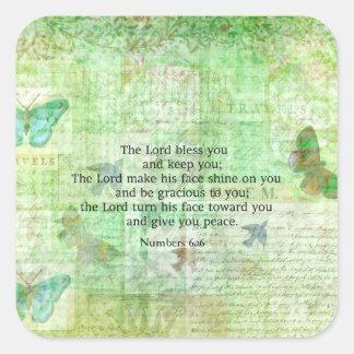 6:24 -芸術の26冊の聖書の詩の天恵--に番号を付けます スクエアシール