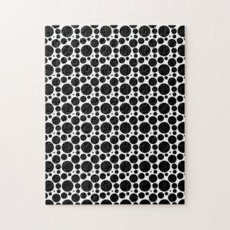 7つのサイズの円及び点: 黒及び白を繰り返すこと ジグソーパズル