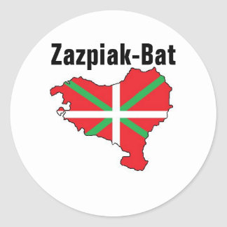 7つの地域1つのバスクの国のステッカー ラウンドシール