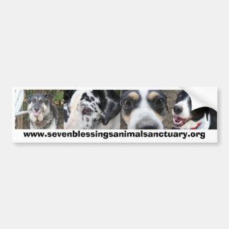 7つの恵み動物の聖域 バンパーステッカー