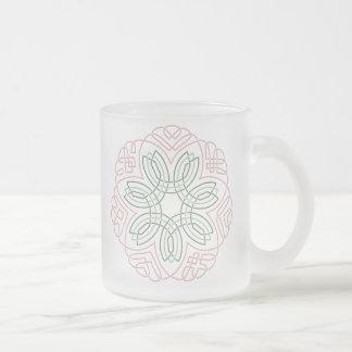 7つの花の結び目 フロストグラスマグカップ
