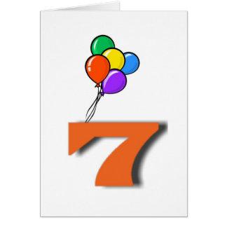7つの誕生日の招待状カード カード