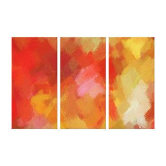 7つを絵を描く抽象美術 キャンバスプリント