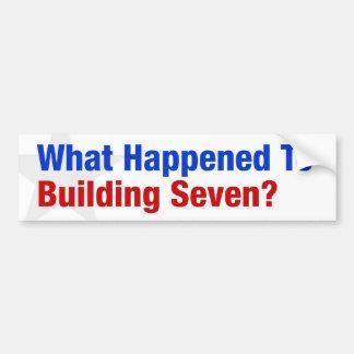 7つを造ることに何が起こりましたか。 バンパーステッカー