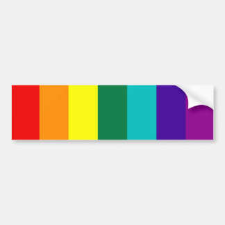 7ストライプな虹のゲイプライドの旗のバンパーステッカー バンパーステッカー