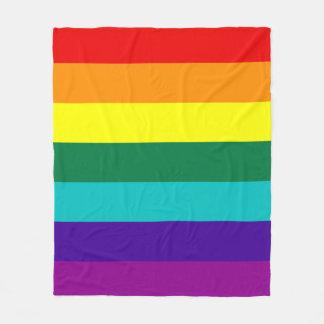7ストライプな虹のプライドの旗 フリースブランケット