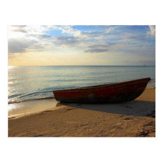7マイルのビーチの日没 ポストカード