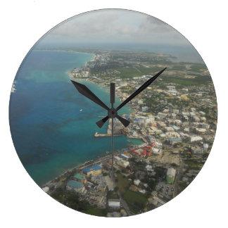 7マイルのビーチケーマン諸島 ラージ壁時計